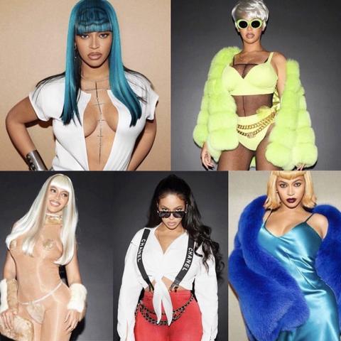 Clothing, Fashion, Turquoise, Costume, Outerwear, Neck, Sleeve, Headgear, Wig, Fashion accessory,