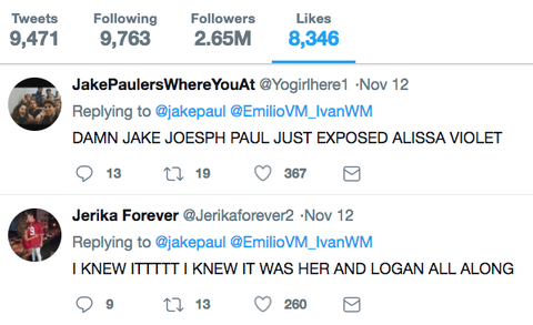 Jake Paul Accuses Alissa Violet of