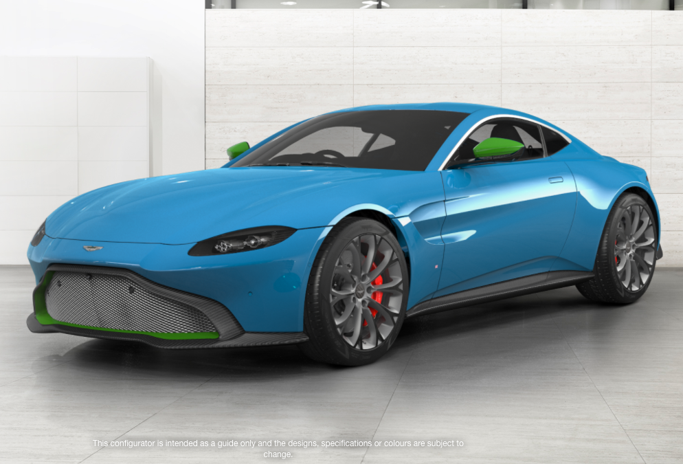 how would you configure your 2018 aston martin vantage? - new v8