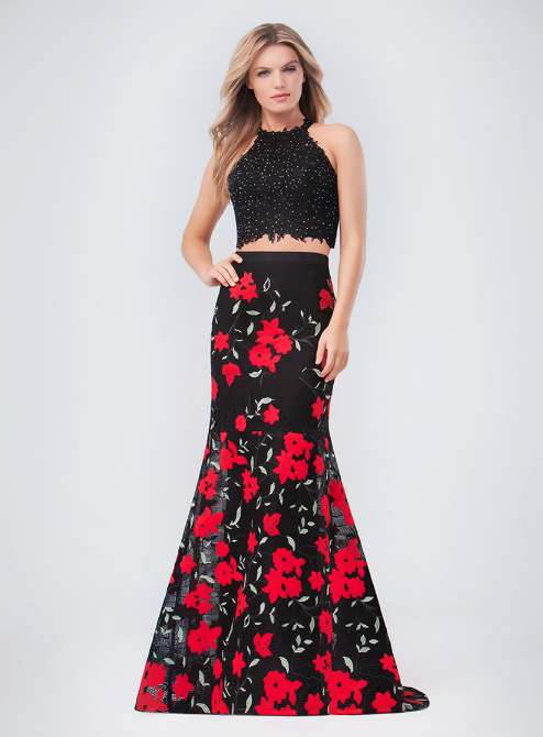19 Best Two Piece Prom Dresses of 2018 - Stylish Crop Top Prom Dresses