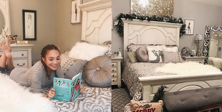 . Maddie Ziegler Transforms Her Room Into A Stunning Winter Wonderland