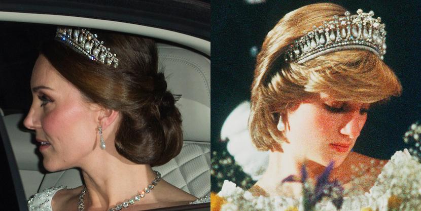 Kate Middleton Wears Princess Diana S Favorite Tiara
