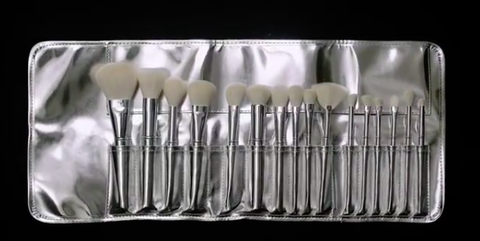 kylie cosmetics silver series brush collection  kylie