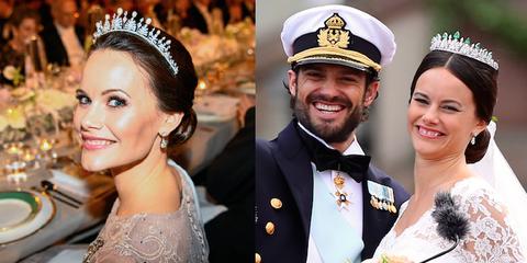 Headpiece, Hair accessory, Facial expression, Tiara, Fashion accessory, Headgear, Bride, Event, Jewellery, Ceremony,