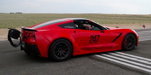 Corvette standing mile