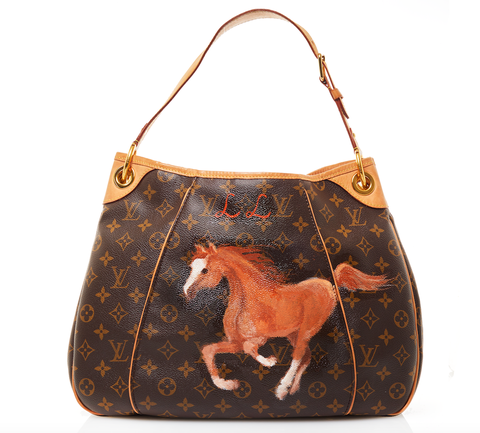 39bcc49a88 A hand painted bag by Candice Bergen that was featured in Town   Country s  2017 holiday gift guide.