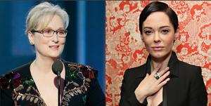 Meryl Streep and Rose McGowan