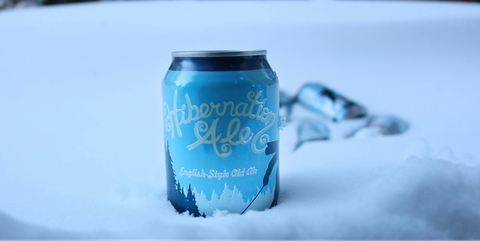 Blue, Drink, Beverage can, Freezing, Winter, Ice beer, Aluminum can, Snow, Soft drink,