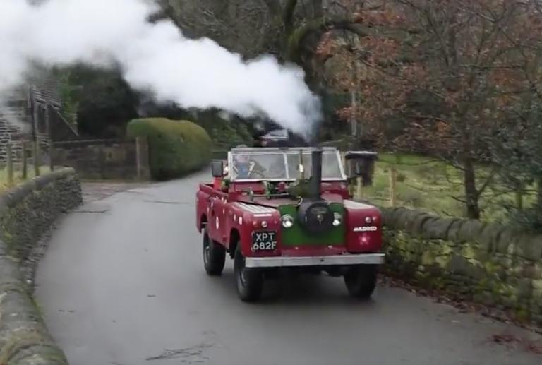 Meet the Man Who Built a Steam-Powered Land Rover Defender