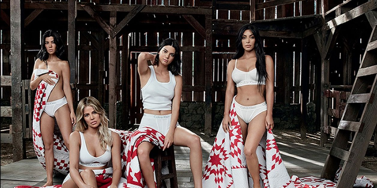 Kylie Jenner covers her stomach in family Calvin Klein underwear campaign