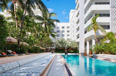 The pool at Soho Beach House in Miami
