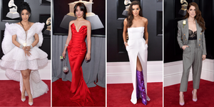 2018 grammy awards red carpet dresses