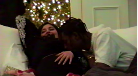 Photograph, Christmas, Facial hair, Snapshot, Fun, Sitting, Event, Beard, Mouth, Christmas eve,