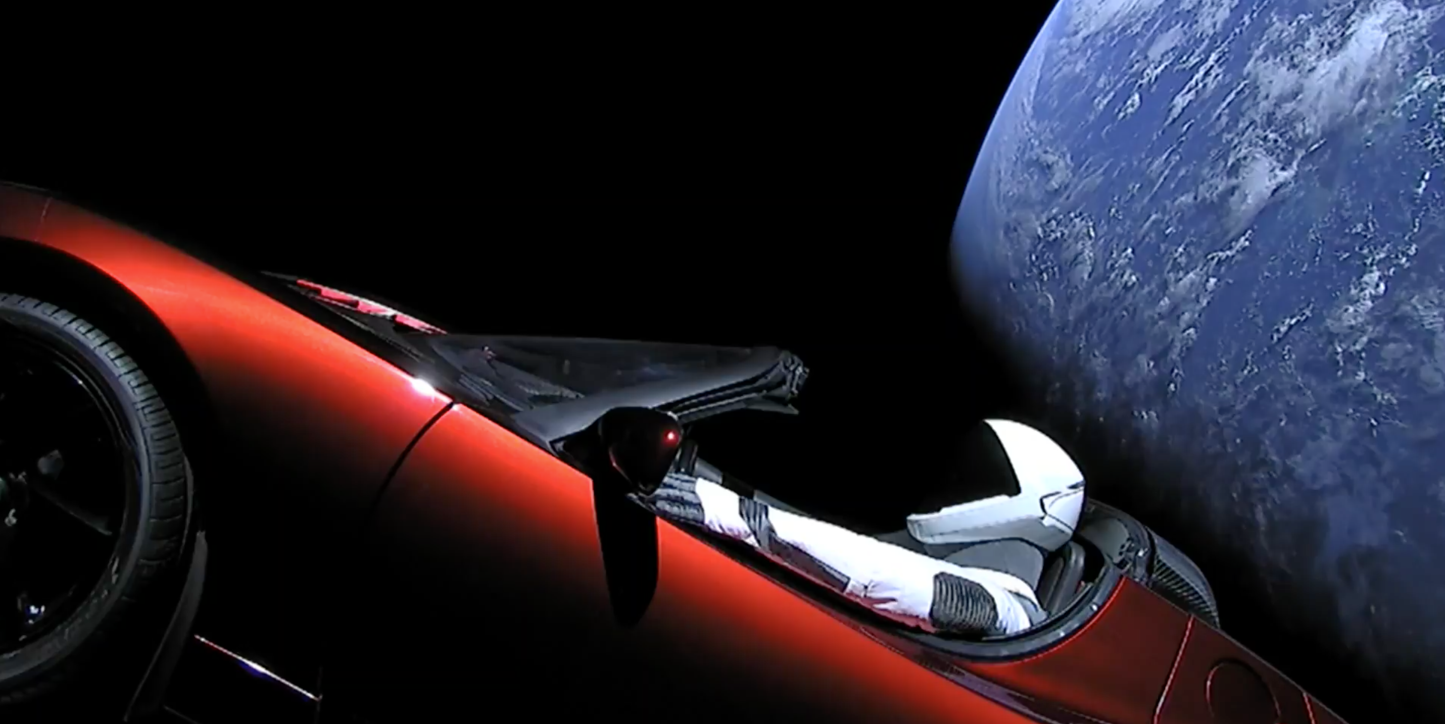 Watch a Video of Elon Musk's Roadster Flying Through Space