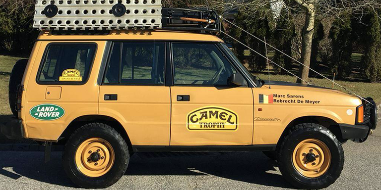 One Of The Actual Camel Trophy Land Rovers Is For Sale In