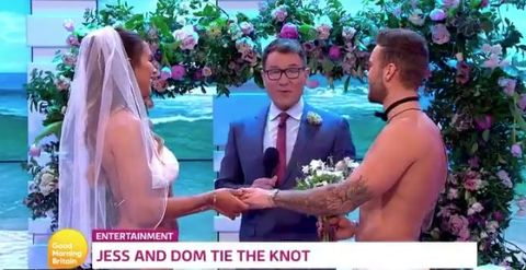 Love Island S Dom Lever And Jess Sheers Got Married On This Morning