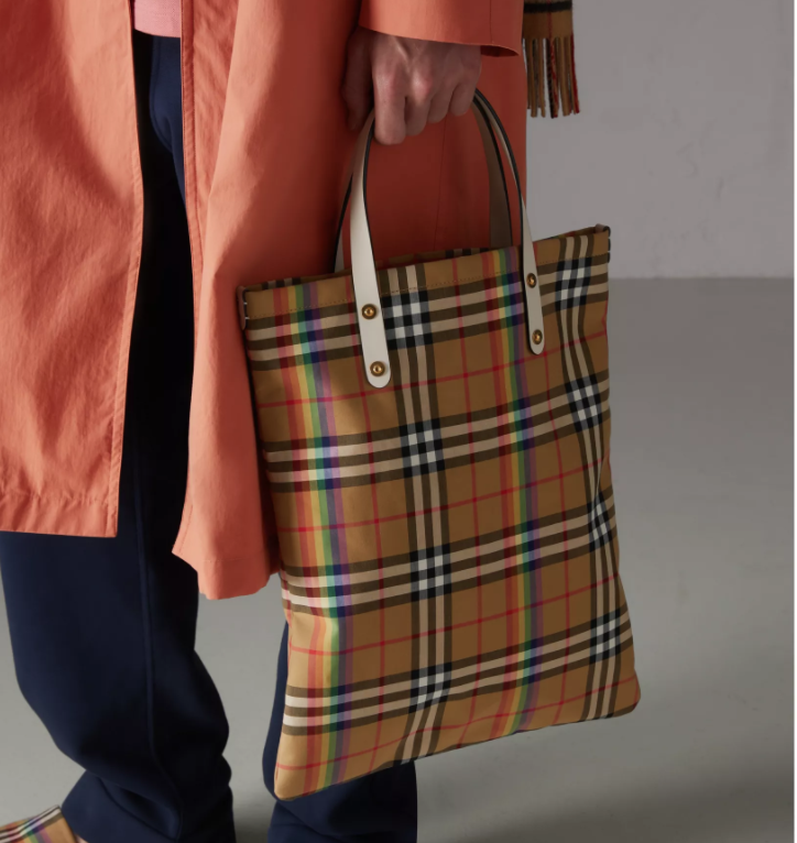 3c9f0b4b589 The Burberry Check Gets a Rainbow Makeover to Benefit LGBTQ Rights ...