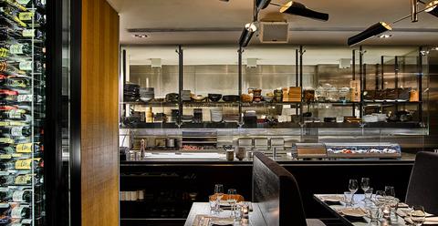 Restaurant, Room, Interior design, Building, Architecture, Countertop, Coffeehouse, Furniture, Glass, Kitchen,