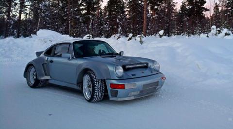 Land vehicle, Vehicle, Car, Regularity rally, Snow, Coupé, Porsche 930, Sports car, Sedan, Winter,