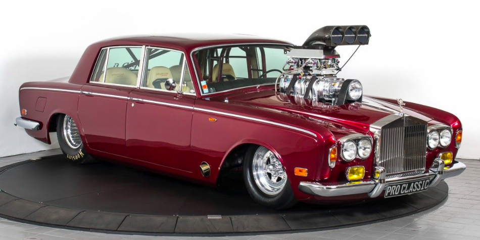 This Absurd Tube Frame Rolls Royce Drag Car Can Sit Four