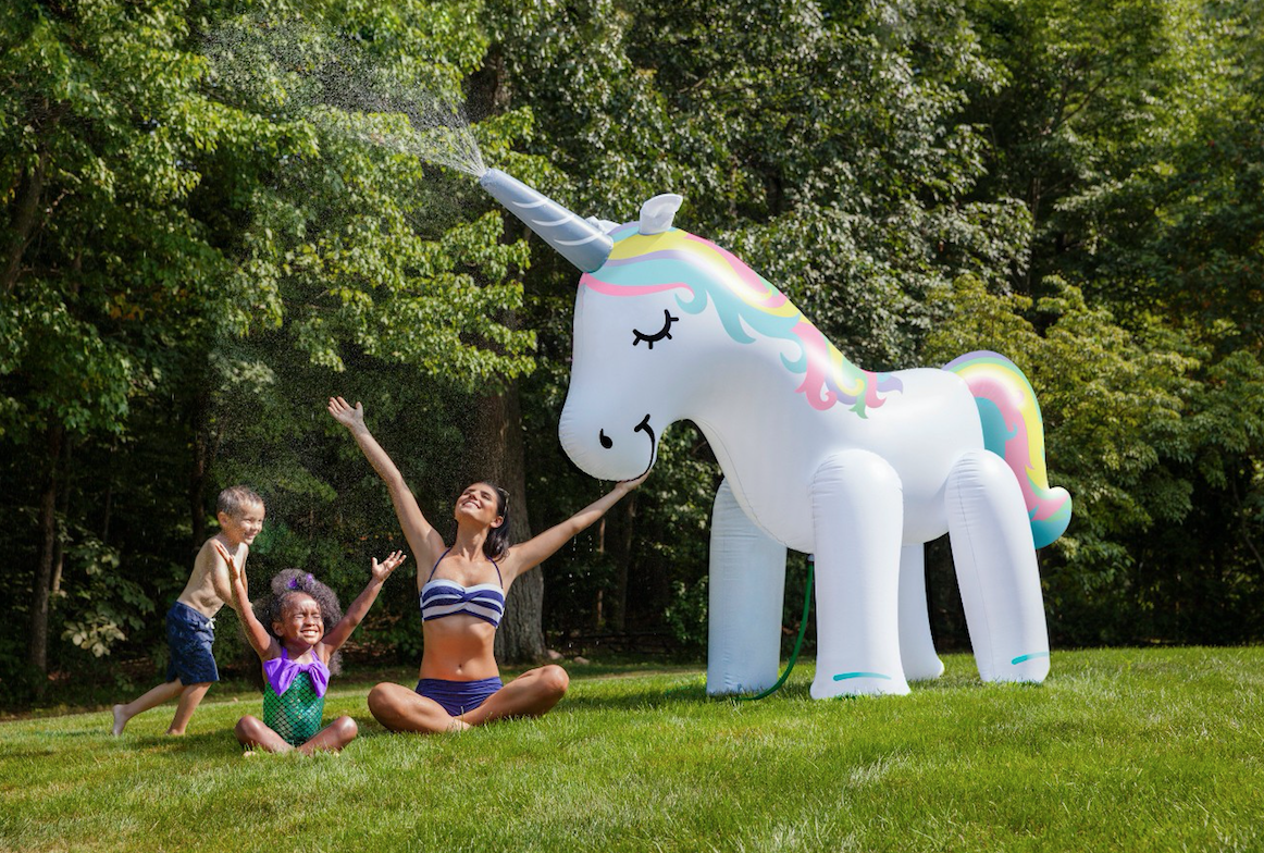Every Summer BBQ Needs This 7-Foot-Tall Unicorn Sprinklercountryliving