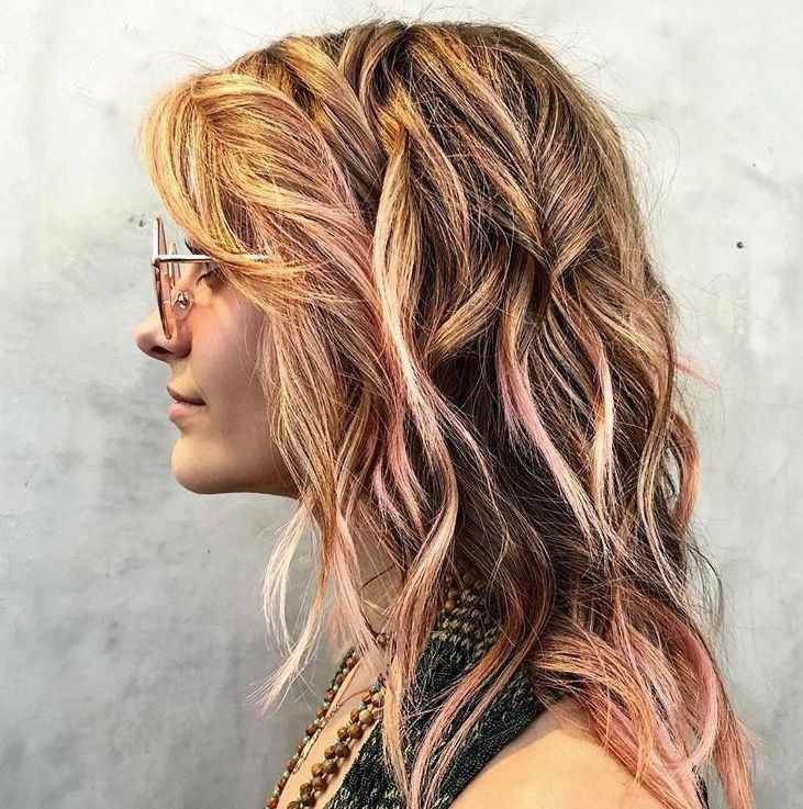 Paris Jackson Peach Rose Pink Hair