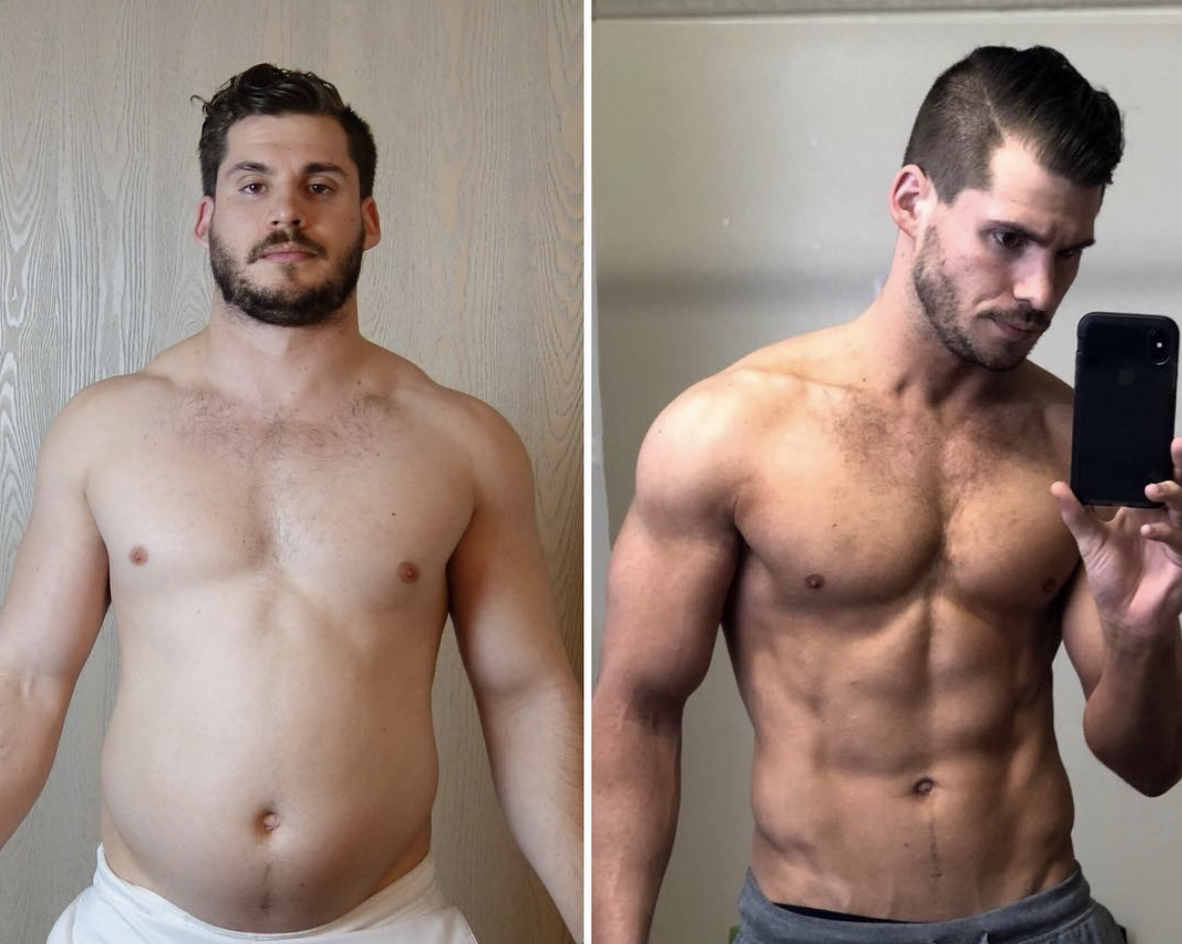This Incredible Time-Lapse Video Shows a Man's 42-Pound Weight Loss Over 12 Weeks