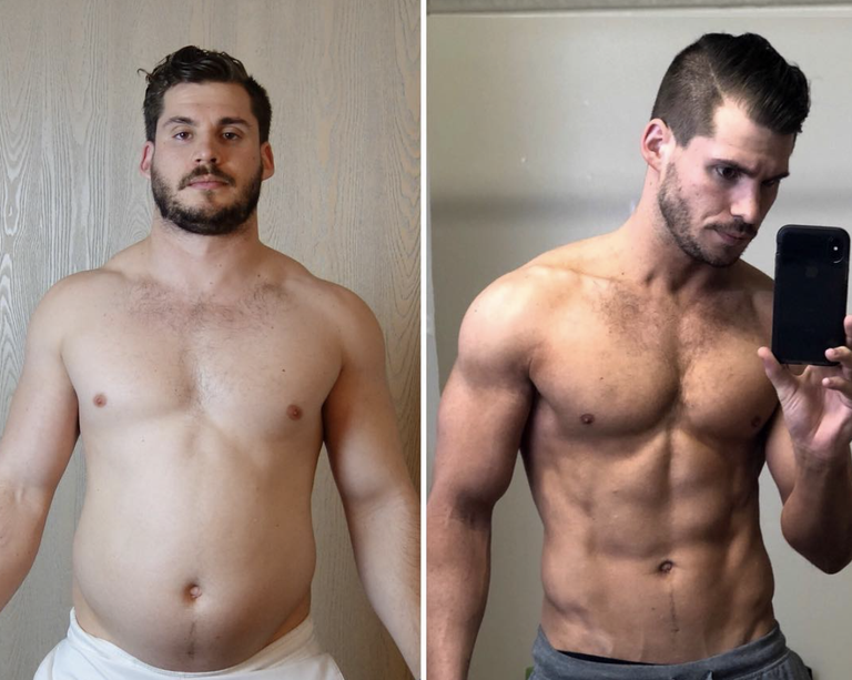 Weight loss transformation time lapse video video shows hunter hunter hobbs talked to menshealth about carving that six pack ccuart Choice Image