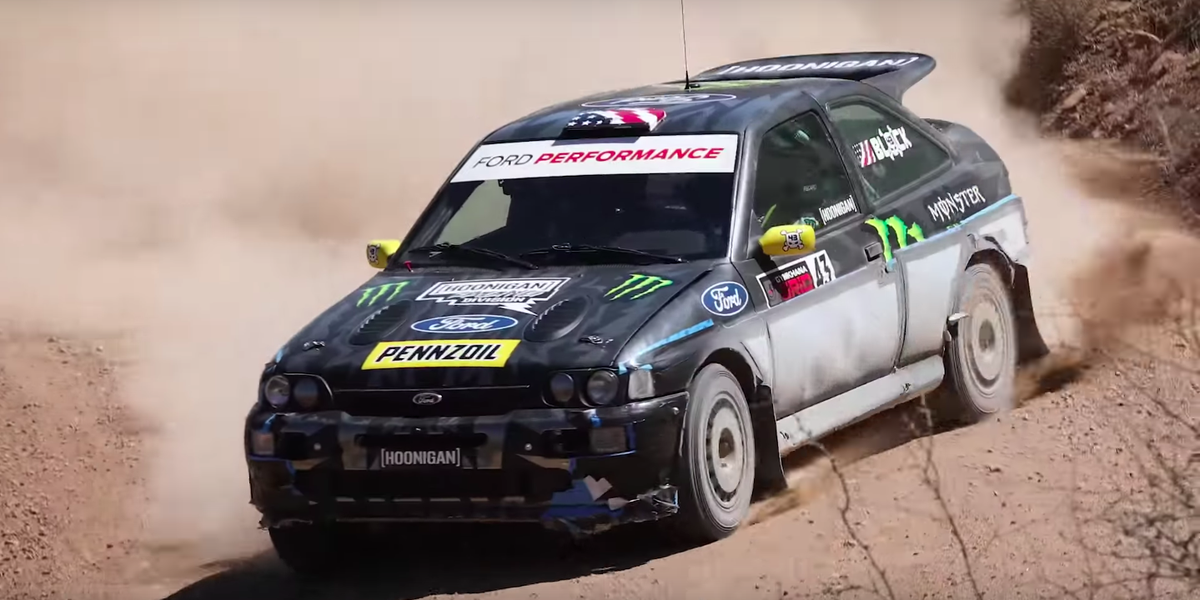 Rally Car Racing >> Watch Ken Block Shake Down His Escort Cosworth Rally Car in the Desert