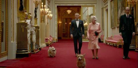 The Queen, Olympic opening ceremony, corgis, Daniel Craig