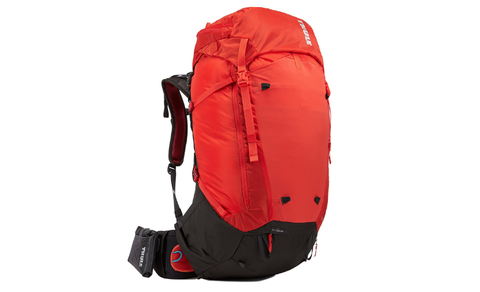 Bag, Backpack, Product, Backpacking, Red, Luggage and bags, Orange, Adventure, Hiking equipment,