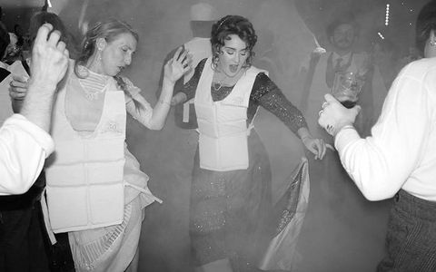 Photograph, White, Black-and-white, Snapshot, Monochrome photography, Monochrome, Fun, Event, Dress, Photography,