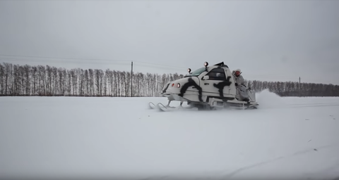 Snowmobile, Snow, Vehicle, Winter, Racing, Winter sport, Sled, Auto racing, Geological phenomenon, Recreation,
