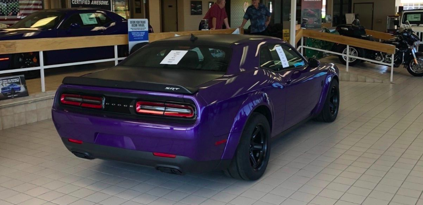 Someone's Selling a Dodge Challenger Demon on eBay for $215,000