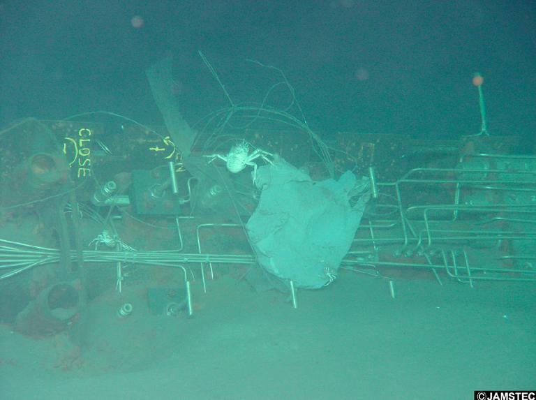JAMSTEC plastic bag ocean floor