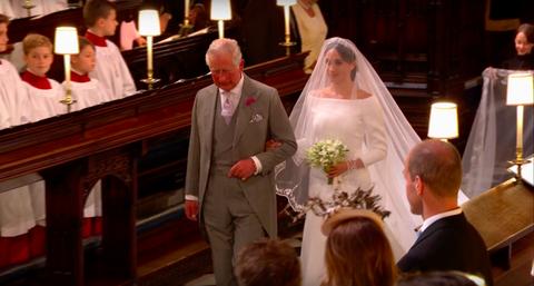 Royal Wedding Youtube.Meghan Markle Walks Down The Aisle Wearing Givenchy At Royal Wedding