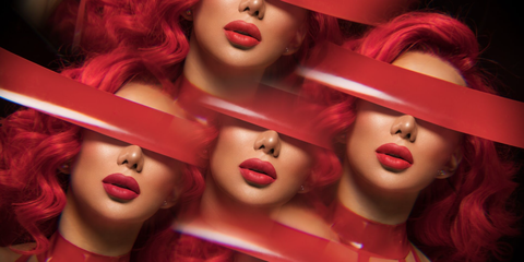 Nikita Dragun Red Matte Lipstick Interview