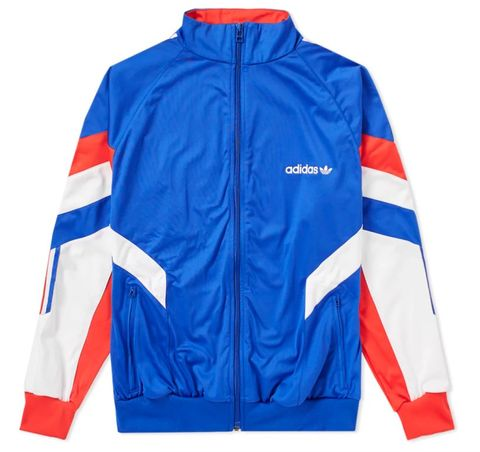 Clothing, Jacket, Outerwear, Sleeve, Electric blue, Sports uniform, Windbreaker, Sportswear, Jersey,