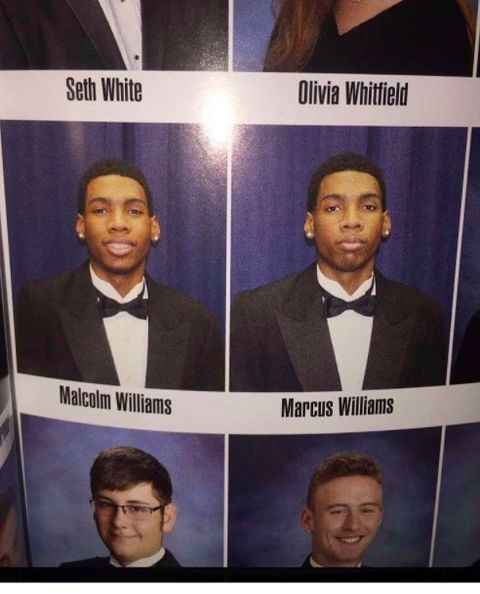 This twin just stood in for his brother's year book pic, and people think it's hilarious