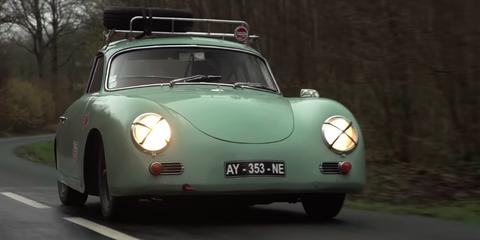 Land vehicle, Vehicle, Car, Regularity rally, Classic car, Coupé, Porsche 356, Sports car, Subcompact car, Antique car,
