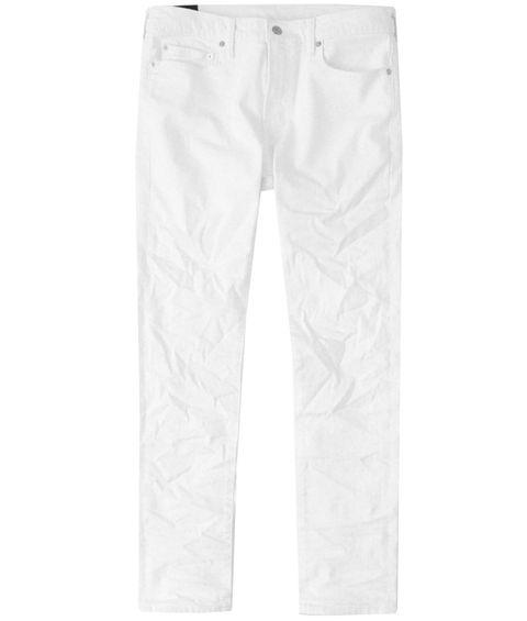 White, Clothing, Jeans, Trousers, Denim, Pocket, Active pants, sweatpant,