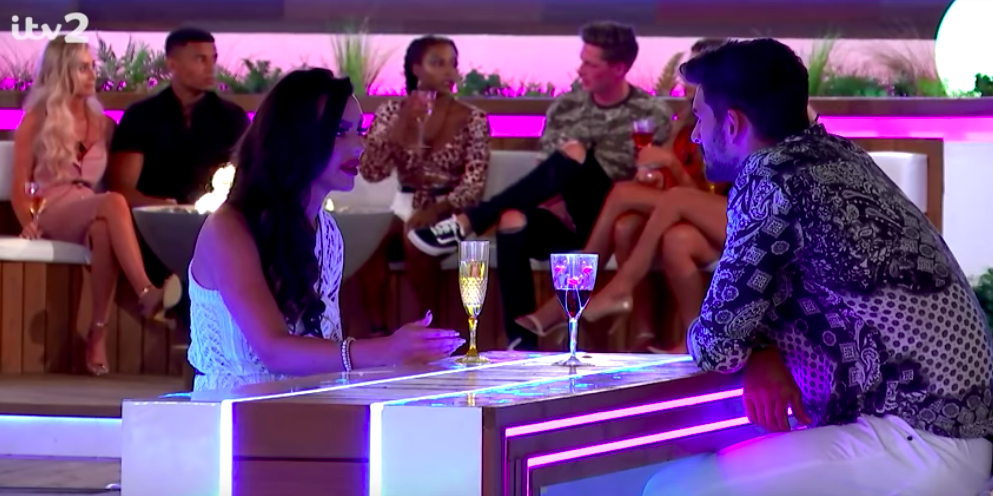 A round of applause for Rosie's speech for Adam following his snakey behaviour on Love Island