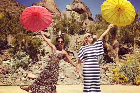 Umbrella, Yellow, Dress, Summer, Fashion, Fun, Tree, Spring, Wheel, Fashion accessory,