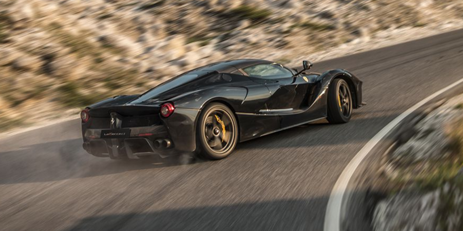 Watch This Laferrari Aperta Powerslide Up A Hill