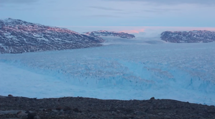 A Stunning Video of a Greenland Iceberg Collapse