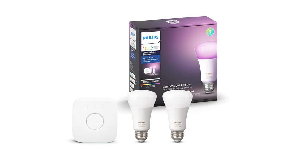 Philips Hue White Ambiance Smart Bulb Starter Kit Hue