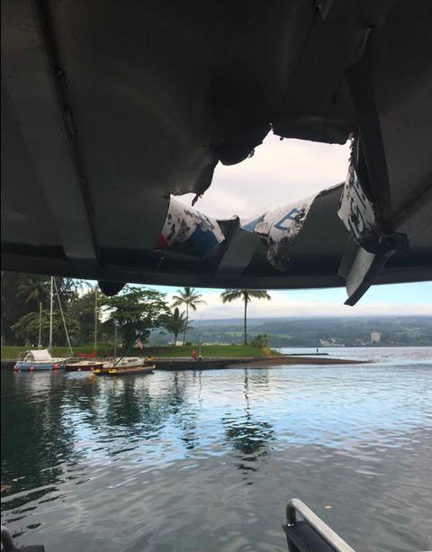 hawaii volcano boat