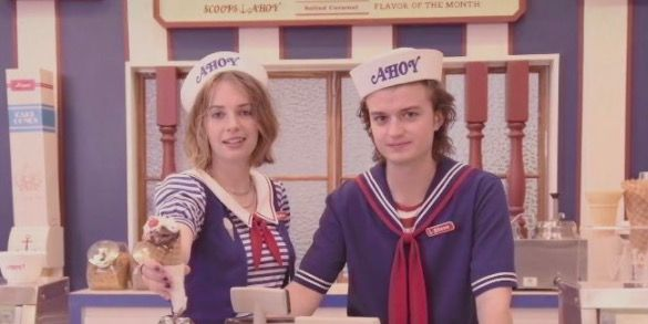 Stranger Things just teased series 3 and Steve works in an ice-cream cafe
