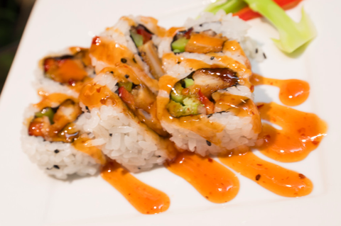 Dish, Food, Cuisine, Ingredient, Sushi, California roll, White rice, Produce, À la carte food, Japanese cuisine,
