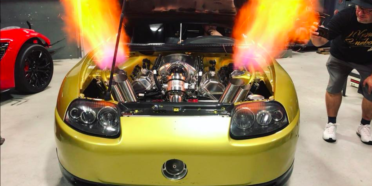 This 2800 Hp Turbo V 8 Supra Is The King Of Flames
